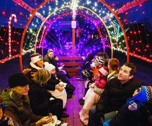 Take a magical holiday hayride at Johnson's Corner Farm. Photo courtesy of the farm