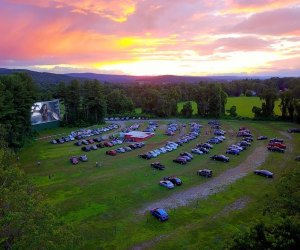 Watch a great flick (and a gorgeous sunset) in nearby Hinsdale, NH. Photo by Northfield Drive-In