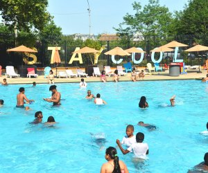 Check out one of the many free pools in NYC before summer ends like Liberty Pool. Photo courtesy of NYC Parks