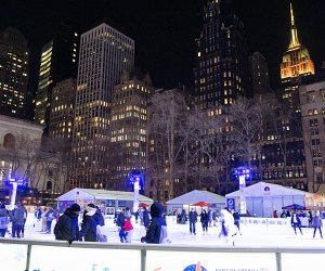 Bryant Park is home to the city's only FREE ice skating rink, plus plenty of other seasonal fun in the Bank of American Winter Village. Photo by Jody Mercier