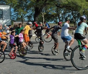 Test your sense of adventure—and your balance—at the NYC Unicycle Fest. Photo by Keith Nelson/courtesy of the fest
