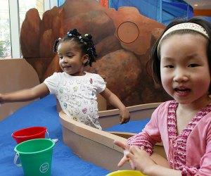 Sand, water and more sensory fun await at Totally Tots at the Brooklyn Children's Museum. Photo courtesy of the museum