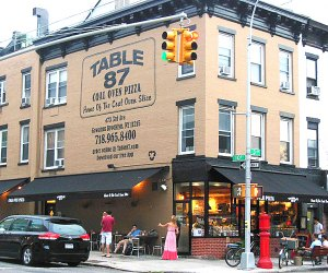Stop by Table 87 for a slice in Gowanus. Photo courtesy of Table 87