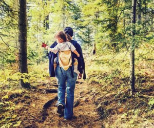 Take a hike with your little one on a family day trip from NYC. Photo: Shutterstock