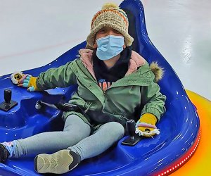The ice bumper cars at Ocean Ice Palace are guaranteed to bring out the smiles...even behind the masks.