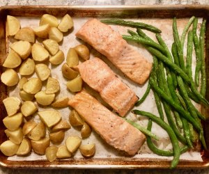 One pan or one sheet meals are easy to make with kids.