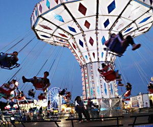 Hit the midway at the Orange County Fair when it comes to town in mid-July. Photo courtesy of the Orange County Fair