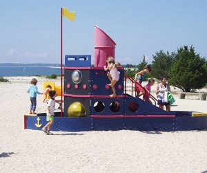 The playground at Orient Beach State Park is a hit