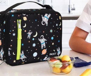 The PackIt lunch box can be thrown in the freezer the night before to keep lunch cold.
