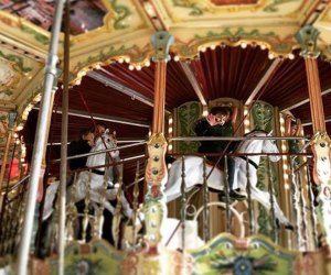 The double-decker carousel is a favorite among little ones and big kids alike. Photo by the author