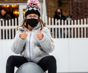 A skating session at Palmer Square in Princeton, followed by a sweet treat nearby, is sure to draw two thumbs up for outdoor fun.