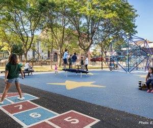 Boston Playgrounds with Brain-Boosting Fun: Paris Street Park