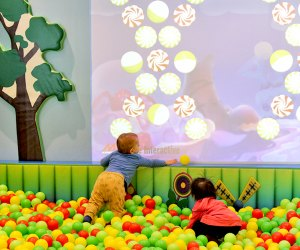 This interactive video wall is fun for little and big people, alike.