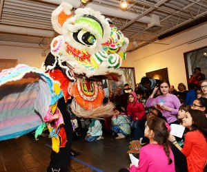 Come celebrate the Year of the Pig! Chinese New Year returns to Pelham Art Center on Sunday, February 10, 2019, with free, family-friendly activities. Photo courtesy of the center