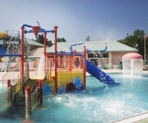 Phelps Lane Park has an interactive spray pool