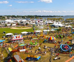 An international food court, rides, amusements, and more await Connecticut families September 10-11 in Norwalk.  Photo courtesy of the Norwalk Oyster Festival