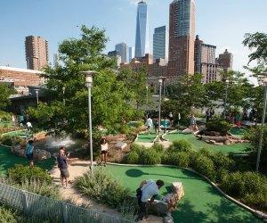 Pier 25 has an 18-hole mini-golf course