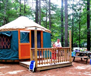 Camp in comfort in a yurt at Pinewood Lodge. Photo courtesy of the campground