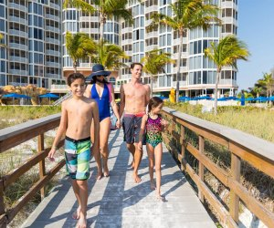 Experience a true family-friendly beachfront getaway at Pink Shell Beach Resort in Fort Meyers, Florida.