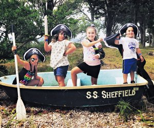 Swashbuckle with pirates on Shefflied Island. Photo by Ally Noel