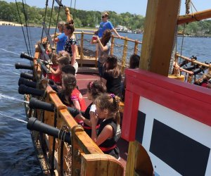 Young pirates can search for treasure aboard the Sea Gypsy on the Metedeconk River. Photo courtesy of the Jersey Shore Pirates