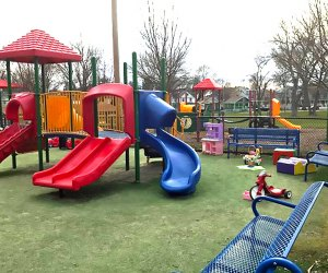 The Wee Play Tot Park located in Memorial Park is perfect for preschoolers
