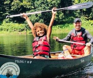 Canoe through the Poconos
