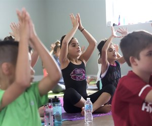 Powerflow Yoga Kids offers classes for all ages, from babies to teens.