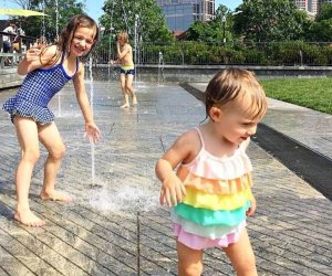 There are seven different spots to cool off on the Greenway, but the gentle Canal Fountains are ideal for little ones.