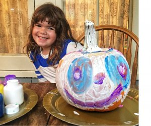 Pumpkin painting activities are happening this week in Ivoryton and Norwalk (or your house)! Photo by Ally Noel