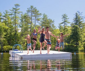 Family Camp at Purity Springs includes a lot of lakeside fun. Photo courtesy of the camp