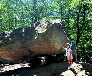 Pose with the boulders at NJ's Pyramid Mountain.Photo by Anita Gregorio Marsault