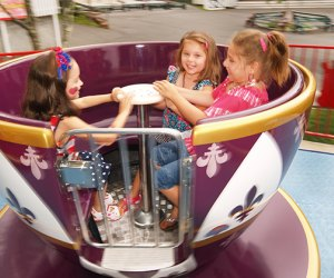 Take a spin in the teacups at Quassy Amusement Park