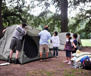 Pitch a tent with the Urban Park Rangers