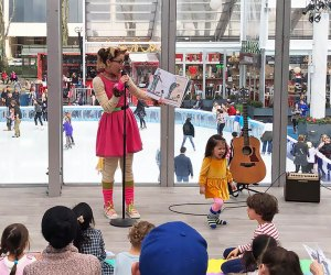 Join resident storyteller Cali Co Cat as she reads (and sings!) a new story every week. Free books are handed out while supply lasts. Photo courtesy of Bryant Park