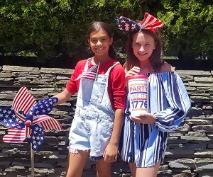 Get decked out in patriotic colors for 4th of July fun with kids. Photo by the author