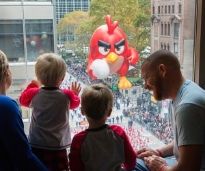 Watch the NYC Thanksgiving parade from a hotel room for a special view. Photo courtesy of  the Residence Inn New York Manhattan/Times Square