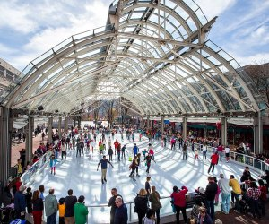 Lace up your skates and take a spin around the ice. Photo courtesy of Reston Town Center