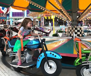Hop on a motorcycle at Morey's Piers. Photo by Rose Gordon Sala