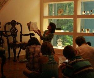 Storytime at the Rienzi. Photo courtesy the Museum of Fine Arts Houston.