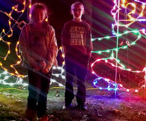 Kids will love getting into the holiday spirit at the Riverhead Holiday Light Show. Photo courtesy of the event