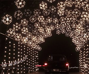 Thrill to the holiday lights as you continue along the 25-minute drive.