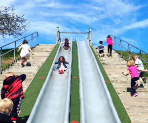 Robbins Farm Park's side-by-side slides are a major draw.