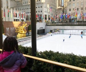 Rockefeller Center is a picturesque ice skating rink for skaters and spectators. Photo by Jody Mercier