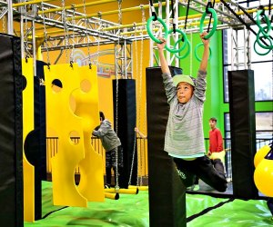 Bounce and swing at Rockin' Jump! Photo courtesy of Rockin' Jump Trampoline Park