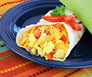 Breakfast burritos are healthy, filling, and an be made ahead.