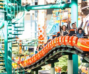 Ride the roller coaster right at the mall with a visit to Nickelodeon Universe. Photo courtesy of Bloomington Convention and Visitors Bureau