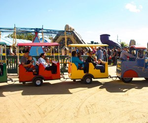 All aboard at the Rolling River Fall Festival.