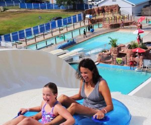Family-friendly waterslides at Runaway Rapids Family Waterpark