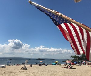 Rye Town Beach is is a great for families. Photo courtesy of the the town